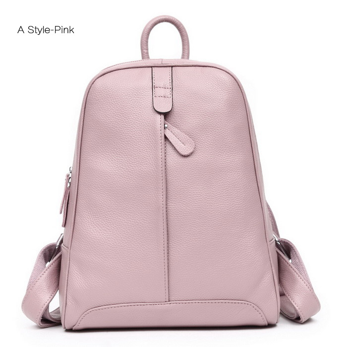 leather school backpack