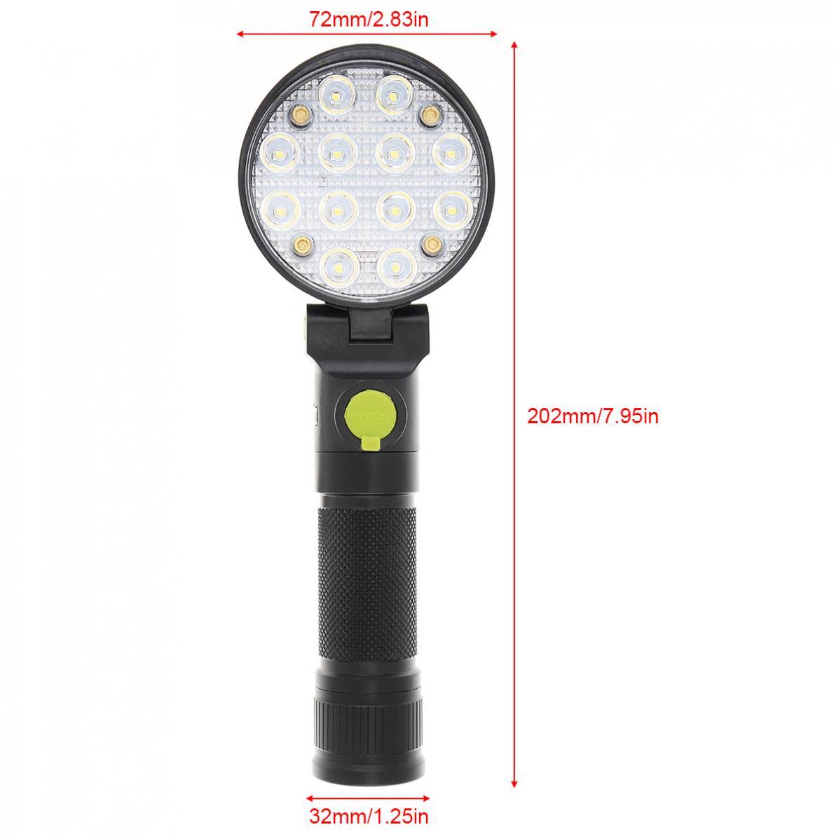Torch FlashLight 12 LED Camping Light Car Maintenance Emergency
