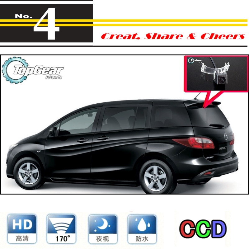 Car Camera For Mazda 5 Mazda5 Premacy MK3 2010~2015 High Quality Rear View Back Up Camera For PAL / NTSC Use | CCD with RCA