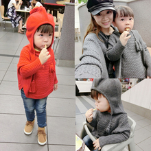 Family fashion children's clothing 2016 fashion wool cloak pullover children sweater
