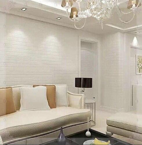 pvc de vinilo papel pintado de ladrillo blanco para paredes rstico tv fondo de pared de ladrillo rollos de papel papel de parede cocina en
