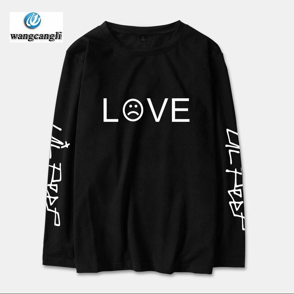2018 Lil Peep R.I.P. Long Sleeve Tshirt T shirt Men/Women Cotton Spring Fashion Casual Streetwear Hip Hop Long T-shirt Top