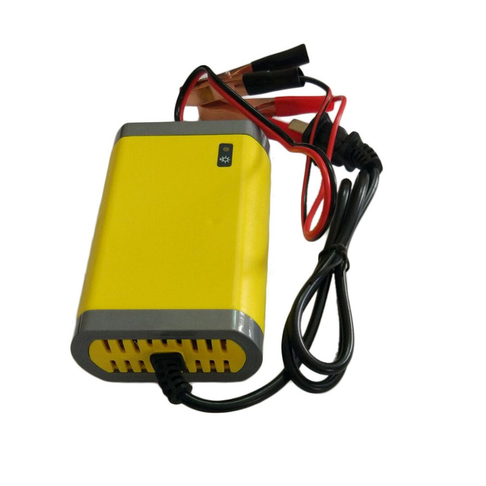 12V 2A Intelligent Auto Power Bank Motorcycle Battery Charger Portable Automobile Power Supply Vehicle Accessories Yellow