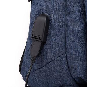 Image 4 - Usb de carregamento de couro slling saco peito sacos ombro esportes ao ar livre ginásio saco diário para masculino ginásio esportes sling usb sacos xa496wa