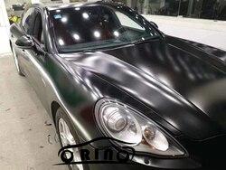 Película de vinilo negro satinado mate de calidad superior con revestimiento para coche sin burbujas de aire para revestimiento para coche lámina de ping tamaño 5/10/20X1.52M