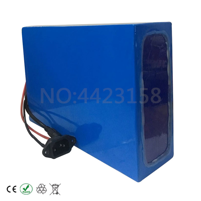 Top Big Capacity 48 Volt Batteries 48V 20Ah Li-ion Battery for Electric Bike with PVC case Built in 13S 30A BMS + 2A CC/CV Charger 2