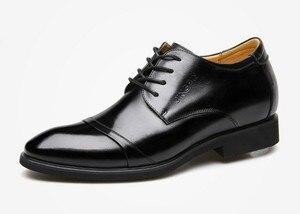 """Image 3 - Cyabmoz חדש גברים עסקי שמלת נעלי גובה הגדלת 6 ס""""מ קלאסי חתונה נעליים רשמיות גברים פרה פיצול עור מעלית נעליים"""