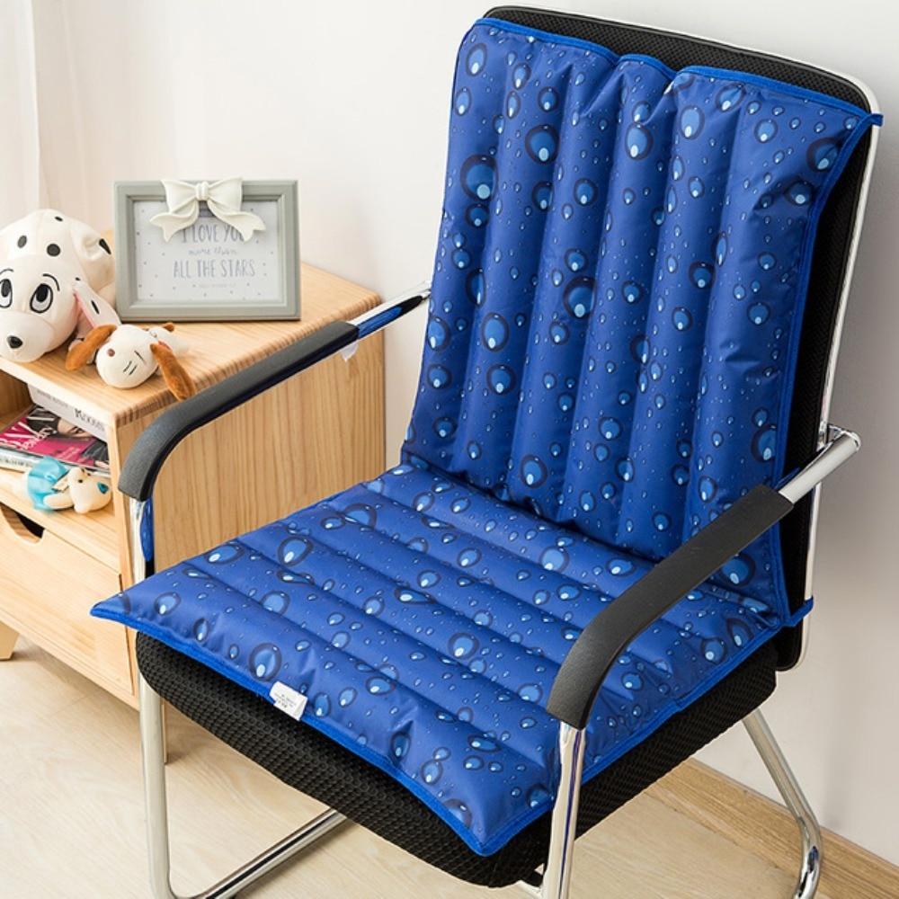 White Bear Pattern Ice Water Cushion Mat Cool Summer Chair Seat Back Cushion Self-Help Add Water Bag Summer Pad Cushion 94*48CM