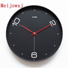 Meijswxj 12 inches Wall Clock Saat Reloj Clock Relogio de parede Duvar Saati Wall Clocks Horloge Murale mute watch Home Decor