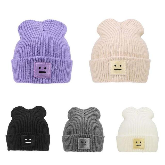 6ab6f80dac8 Autumn Winter Baby Knitted Hats for Toddler Boys Girls Robot Thick Warm Cap  Fashion Children Crochet
