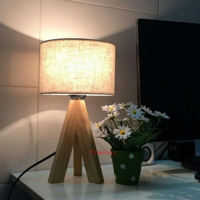 Modern 3-leg wooden table desk lamps for study room children room bedroom wood led desk light with shade table lights Escritorio children s and chairs set children s wooden study table student desk desks