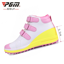 PGM new Waterproof Golf Shoes For Women Cushioning Comfortable Height Increasing breathable golf Sneakers High Quality