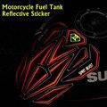 2015 Nuevo Llega El 22*19 CM de La Motocicleta Del Tanque de Combustible etiqueta engomada Del Coche Extraíble 3D Modificar Protección Reflectante Decorativo Adhesivo Resistente Al Agua