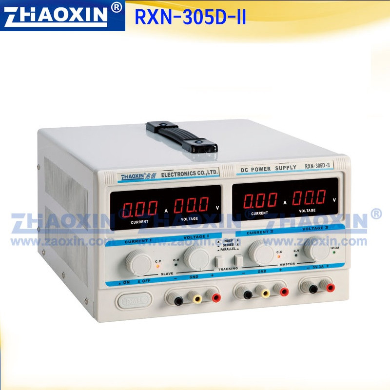 RXN-305D-II (0-30V/0-5A) Two-circuit Output Cocurrent Voltage-stabilized Source Fixed Output 5V 3A Adjustable DC power supply rxn 305d ii 0 30v 0 5a two circuit output cocurrent voltage stabilized source fixed output 5v 3a adjustable dc power supply