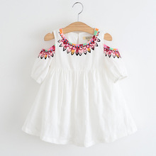 Summer dress with short sleeves 100% cotton