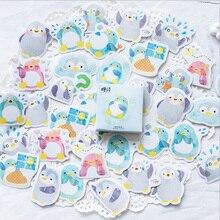 45pcs/box Kawaii Little Penguin Mini Paper Stickers Decoration diy Scrapbooking Sticker Stationery cute label sticker все цены