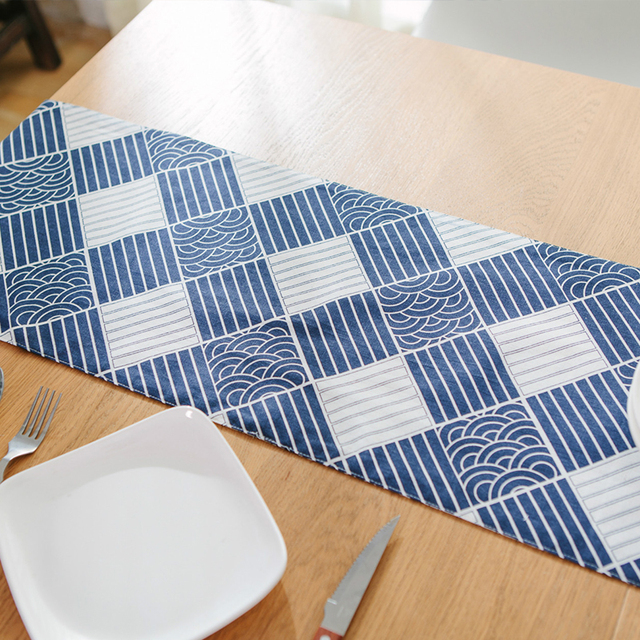 Delicieux Table Runners New Stitching Lattice Pattern Modern Runner Camino De Mesa  Mantel Stripes Waves Home Hotel