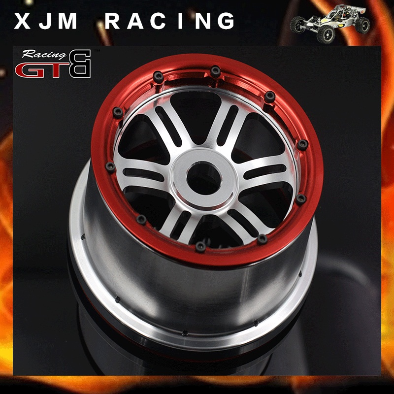 GTBRacing new design alloy wheel hub for 1/5 rc car losi 5ive-T parts front steering wheel c seat base c for losi dbxl losi desert buggy xl 1 5 rc car gas upgrade parts
