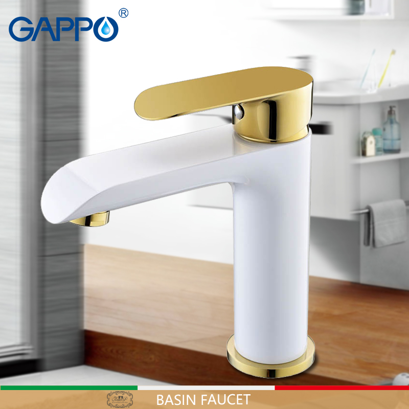 GAPPO basin faucet golden basin mixer tap bathroom sink tap mixer water bathtub faucets waterfall faucet deck mounted taps marksojd