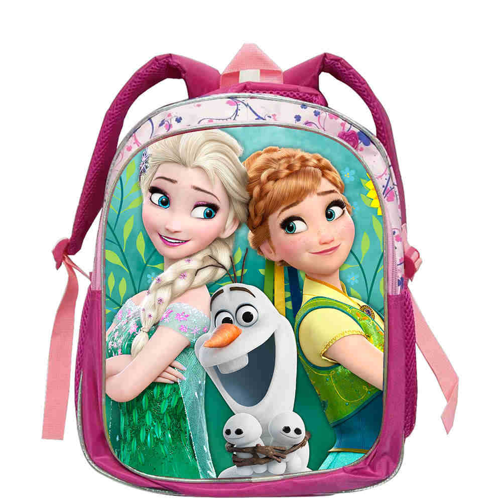 Large Capacity Kids Cartoon Character Backpack Children's School Bagpack Elsa & Anna Princess Schoolbag For Teen Girls Pupil