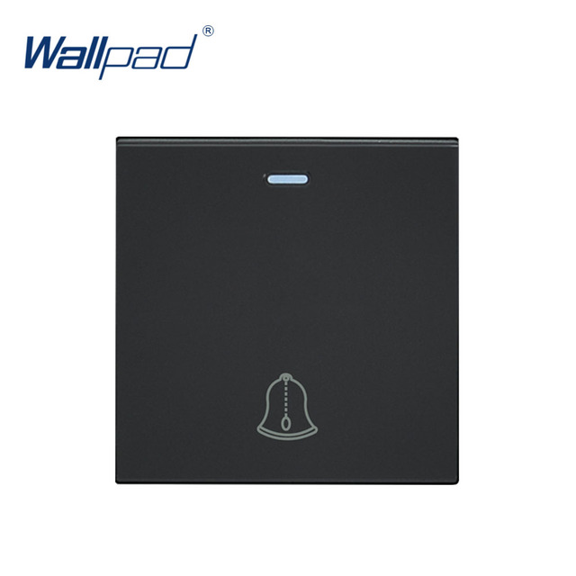 Wallpad Luxury Doorbell Switch Function Key For Wall Push Button Switch White And Black Plastic Module Only