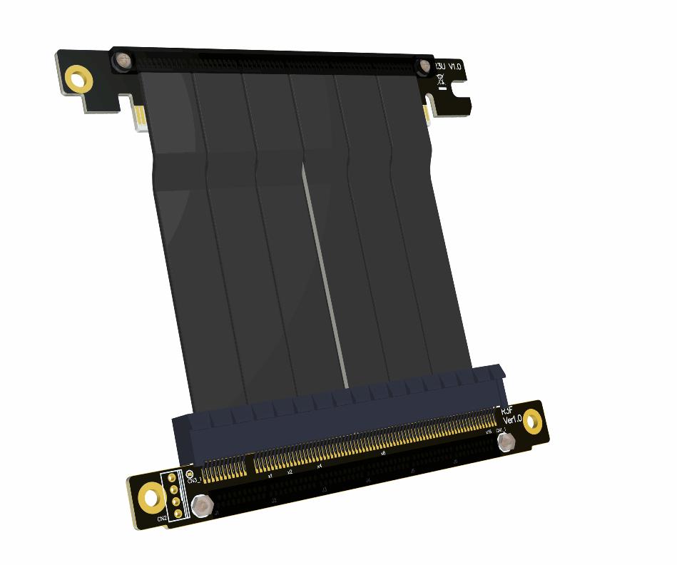 Câble d'extension graphique PCI-E x16 3.0 compatible avec le châssis ITX A4 pcie 16x stable à pleine vitesse