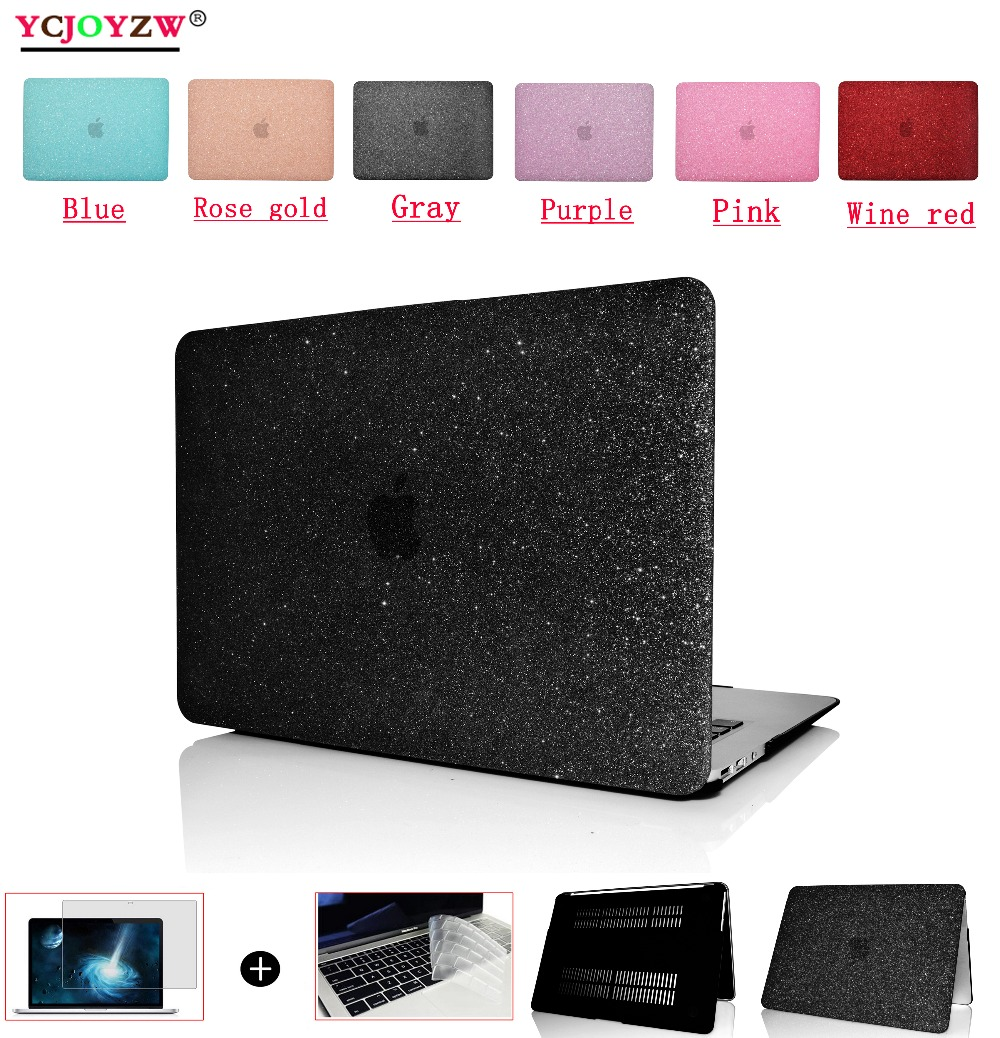 New laptop Case For Apple MacBook Air Pro Retina 11 12 13 13.3 15 15.4 inch with Touch Bar 2016 2017 2018 bag+Keyboard Cover image