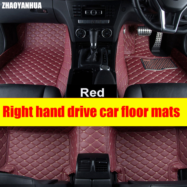 Zhaoyanhua Right Hand Drive Car Car Floor Mats For Audi A6 C5 C6 C7