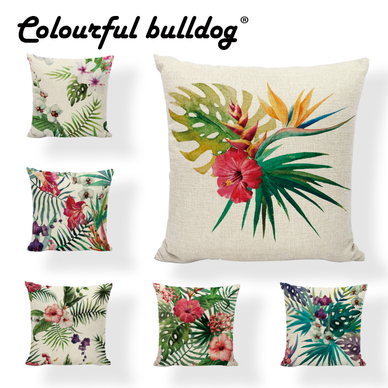 Aliexpress.com : Buy Throw Pillow Case Tropical Plants