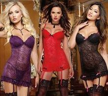 Lace Nightclothes Woman Hot Intimate Sleepwear Sexy Dress Charming Gown for Female Ropa Interior Mujer Indoor Costume Lady CA849