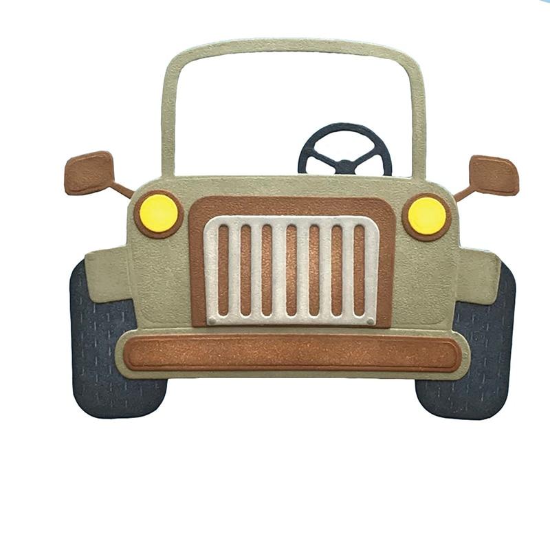 Safari-Jeeps Metal Cutting Die Stencil For Diy Scrapbooking Paper Card Crafts Handmade Embossing 2019 Cutting Dies New Decor