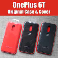 A6013 Official OnePlus 6t Case original 1+6T OnePlus 6 bespoke Silicone Sandstone Nylon Karbon Bumper Leather Flip Cover