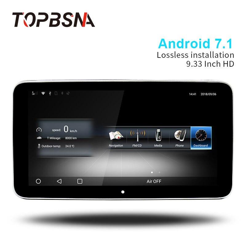 TOPBSNA IPS HD DELLO SCHERMO di 9.33 pollice Android 7.1 Lettore DVD Dell'automobile Per Mercedes Benz GLA CLA A/B CLS 2015-2018 Automotive stereo 4g WIFI