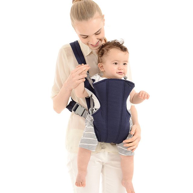 High quality Adjustable Baby Carrier Cradle Infant Carrier Sling Wrap Rider Backpack Front/Back Pack Soft Multiple Carrying