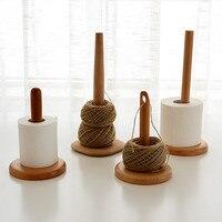Japan Style Wooden Tissue Holder Creative Natural Wood Kitchen/Bathroom Storage Racks Eco Rolling Tissue/knitting Wool Holder