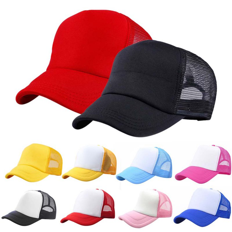 Youth Children Boys Girls Kids Size Cotton Twill 6 Panel Baseball Hats Caps