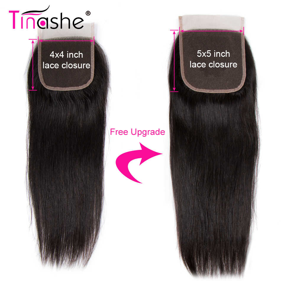 Tinashe Haar 5x5 Vetersluiting Gratis/Midden/Three Part Braziliaanse Remy Human Hair Steil Haar Zwitserse vetersluiting