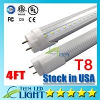 Stock aux ETATS-UNIS 4ft 22 W T8 Led Tube Lumière 2400lm AC 85-265 V blanc Froid 60000 K Led éclairage Fluorescent Tube Lampe 1.2 m LED tubes