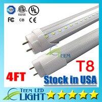 Magazzino in USA 4ft 22 W T8 Luce Del Tubo Del Led 2400lm AC 85-265 V Cool white 60000 K Led illuminazione Lampada Del Tubo Fluorescente 1.2 m LED tubi