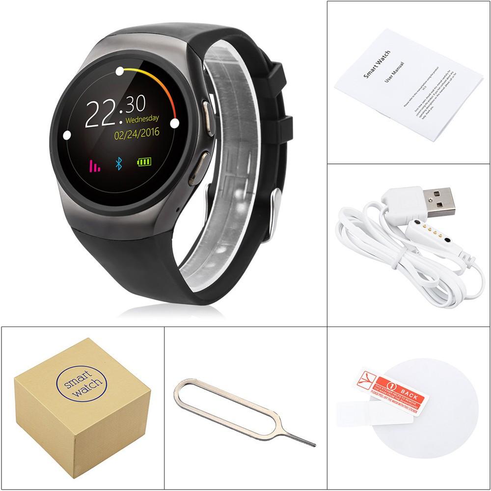 2016 New Product KW18 Smart Watch Android IOS Digital watch Bluetooth Reloj Inteligente SIM Round Heart Rate Monitor Watch Clock10