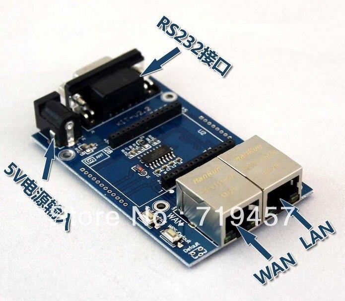 FREE SHIPPING 2PCS/LOT Uartwifi Module Serial Wifi Single Chip Wifi Hlk-rm04 Test Board Test Board