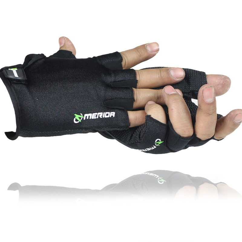 Men/Women Flexible Half Finger Bicycle Tactical Fitness Glove Thin Breathable Sunscreen Anti-skid Sport Outdoor Riding Glo A75