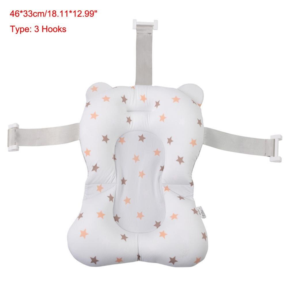 Мультяшная Детская ванна для душа, нескользящая складная детская ванна с крючками, для новорожденных, для ванны, для младенцев, подушка для поддержки ванны, мягкая подушка - Цвет: 3