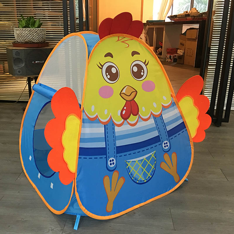 2017 New Arrival Kids Toy Tents Colorful Chick Children Tent Mesh Blue tipi Teepee Ball Pool Outdoor Indoor Child Portable Tent