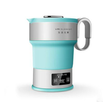 220V Portable Electric Kettle Folding Travel Silicone Kettle Camping Water Boiler Tea Kettle Home Automatic power off kettle фото