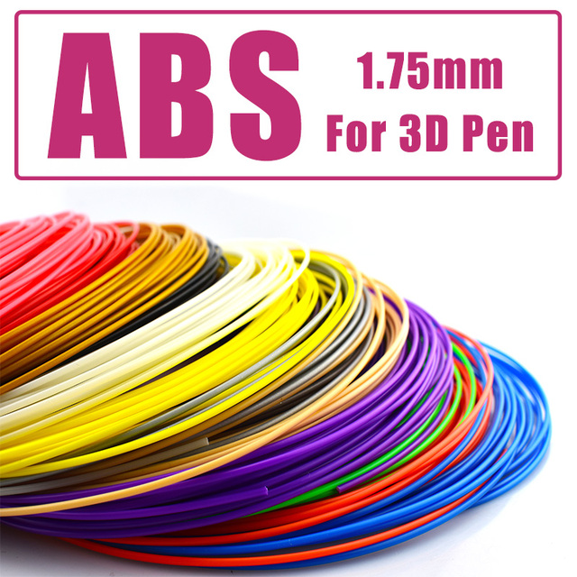 ABS Plastic Filament for 3D Pens 10m Multiple Color for Your Selection 1.75mm 3 D Magic Pen Printing Consumables Wire for 3d Pen