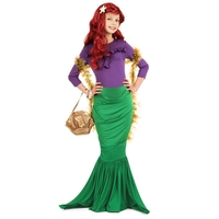 Adorable Child Girls Plucky Undersea Princess Bubbly Mermaid Halloween Costume