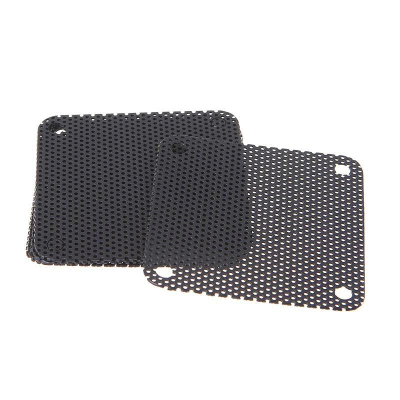 5PCS PVC Fan Dust Filter PC Dustproof Case Cuttable Computer Mesh Cover 40mm Mesh Black