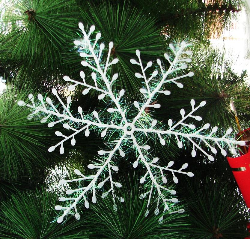 unids blanco copo de nieve de navidad festival fiesta decoracin de artculos de regalo de