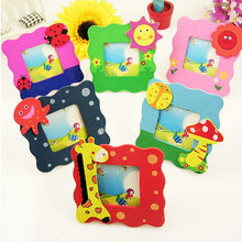 NAI YUE 2014 Wooden Mini Cartoon Photo Frame Message Frame Baby Small Picture Frames FZ2483(China)